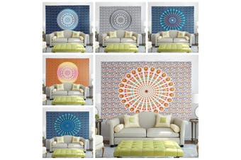 Indian Tapestry Wall Hanging Mandala Bedspread Throw Bohemian Cover Beach Towels 150x200cm (150x200cm)