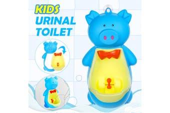 Pig Children Potty Toilet Training Kids Urinal Baby Boys Pee Trainer Bathroom(blue)
