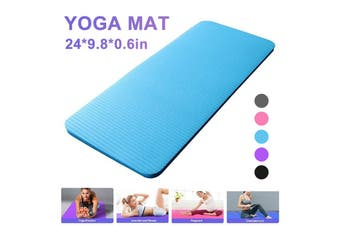 60x25x1.5cm Yoga Knee Pad Cushion Anti-Slip 15mm Thick Workout Exercise Travel Mat Workout Fitness Mat NBR(blue,60x25x1.5cm)
