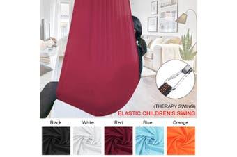 100x280cm Indoor/outdoor kid's Hammock Swing Bed with Heavy Duty Adjustable Soft Swing Nylon(winered,Wine red)