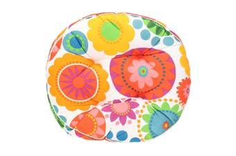 50x50cm Cotton Square Round Chair Pad Thicker Cushion Office Seat Sofa Floor Mat(Sun flower-Round)