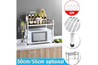 Stainless Steel Kitchen Shelf Microwave Oven Rack Floor Countertop Seasoning Storage Oven Rack
