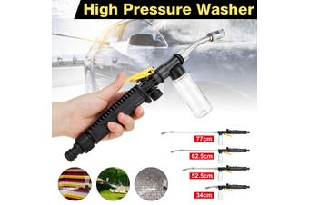 2 in 1 Adjustable High Pressure Washer Nozzle Washing Water Power Washer Air Conditioning Range Car Wash Garden Cleaning Tool 34/52/65/77 CM(34 cm)