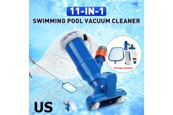 Portable Swimming Pool Vacuum Brush Cleaner Cleaning Tool US(Type B swimming pool fishing net US)