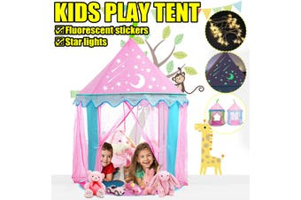 Kids Play Tent Princess Castle Baby Girls Children House Indoor Outdoor(blue,1 Set Blue Tent)