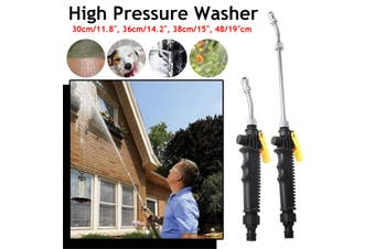 30-48cm Multifunctional High Pressure Spray High Pressure Power Washer Spray Nozzle Water Hose Wand Attachment with Foam bottle(38 cm)
