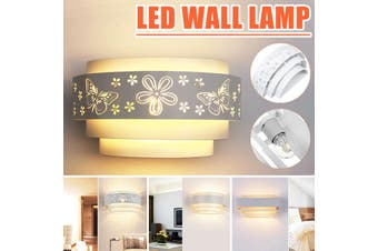 Modern Iron Wall Sconces Light Up Down with E27 5W LED Warm White Lamp Wall-mounted AC220V Decor(white,Butterfly Style)