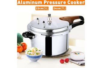 7-Quart Aluminum Pressure Cooker Fast Cooker Cookware Kitchen Large about 5L~7L Capacity -- 28x28x18.3cm / 25.5x25.5x18.2cm(5 l)
