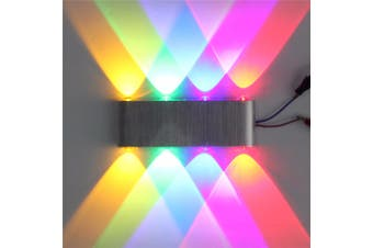8W 8led Wall Lamp Living Room Wall Lamp Simple and Modern Led Wall Lamp Bedside Lamp(multicolor)