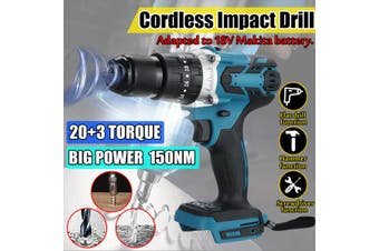 3in1 150Nm Cordless Impact Wrench Drill High Torque Tool 2-speed Electric Drill