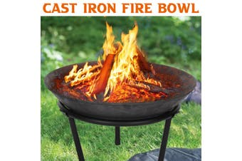 Steel Large Fire Bowl Cast Iron Firepit Modern Stylish Fire Pit Garden Outdoor