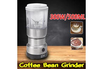 500ML 300W Coffee Bean Grinder Multifunctional Machine Electric Coffee Bean Grinder Nut Spice Seasoning Cereal