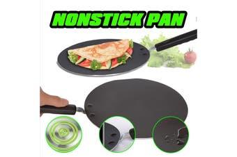 34cm/13.39inch Premium Aluminum Non-stick Pancake Pan Crepe Chapati Pan Marble Coated Round Kitchen Cookware