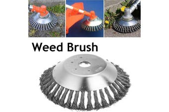 Upgrade 8 Inch Steel Wire Wheel Grass Cutter Trimmer Parts General Wear-Resistant Multi-Function Steel Wire Rust Removal Weeding Plate Mower Head Blade