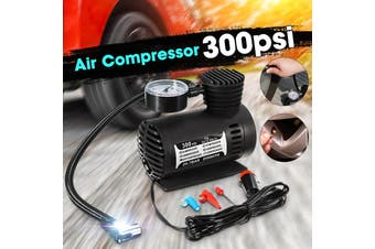 12V 300 PSI Electric Portable Car Air Pump Multifunctional Metal Cylinder Air Pump Car Tire Pump(Upgrade quality)