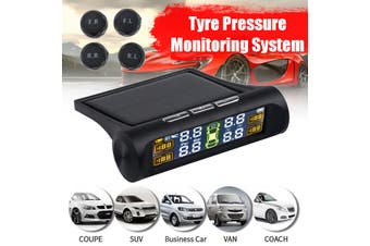 2020 Solar TPMS Tire Pressure Monitoring System Wireless TPMS with LCD Color Screen Display 4 External Sensors(Upgrade Version)