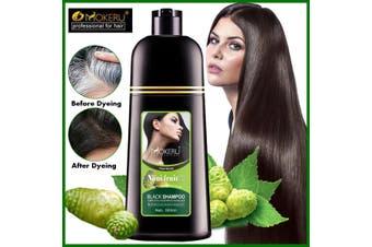 Mokeru Black Shampoo Fast Hair Dye 5 Minutes Organic Natural Noni Plant Essence
