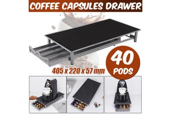 40 Coffee Capsules Holder Rack Drawer Storage Organizer Stand For Nespresso