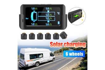 Car Tire Tyre Pressure Monitoring System Wireless Solar TPMS External + 6 Sensor