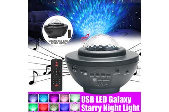LED Galaxy Projector Starry Night Light Star Sky Projection Lamp USB w/Remote(Only 1 light mode)