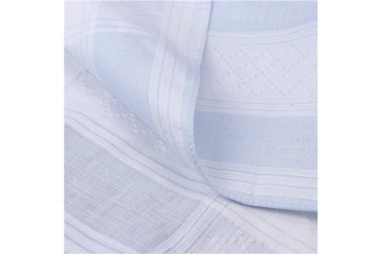 30Pcs 40x40cm Plaid Multicolor 100% Cotton Handkerchief Ladies Men Square Gift