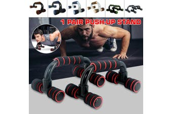 1 Pair S-type Push-ups Frame Chest Muscle Training Equipment Portable Push Ups Bracket(Black&Blue)