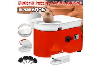 600W 25CM Electric Pottery Wheel Machine Ceramic Work Clay Art Craft Teaching