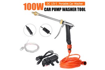 New 12V 120W 200PSI High Pressure Water Pump Sprayer Car Spray Cleaner Watering Wash Intelligent Pump Cleaning Kit