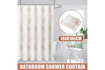 1.8M Bathroom Shower Curtain Waterproof Mildewproof Fabric + Rings Hooks