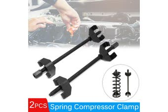 2pcs Drop Forged Heavy Duty Coil Spring Compressor 380mm Kit Auto Strut Install Removal Tool Suspension Clamps
