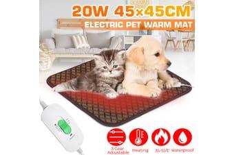 Waterproof Pet Cat Electric Heat Heated Heating Heater Pad Mat Blanket 35-50°C(AU Plug)