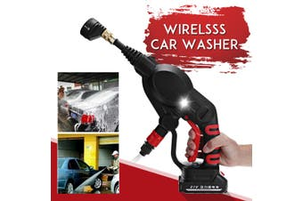 Cordless High Pressure Car Washer Garden Watering 4 Nozzles Tip 6m Pipe Filter