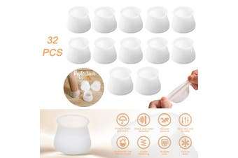 32pcs Silicone Table Chair Leg Protection Cover Furniture Feet Pad Cap Protector
