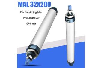 AU MAL 32mm x 200mm Rod Double Acting Mini Pneumatic Air Cylinder MAL32x200