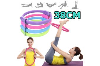 Pilates Yoga Ring Exercise Fitness Resistance Circle Strength for Gym Home Workout(blue)