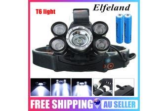 Elfeland Rechargeable 200000LM T6 LED Headlamp Torch Flashlight Work Light Lamp