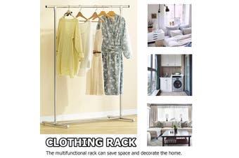 Clothes Garment Rack Stainless Steel Storage Shelf Holder Hanger 100x50 x130cm(100 cm)