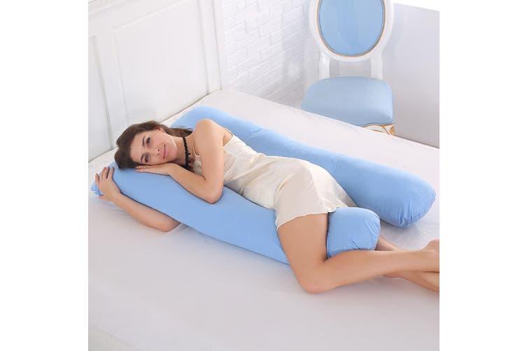70x130CM Pregnancy Soft Pillow Side Lying Cushion for Pregnant Women Side Sleep(blue)