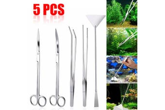 3/4/5 Pcs Aquarium Live Plant Aquascaping Tweezers Trimming Tool Trim(5pcs)