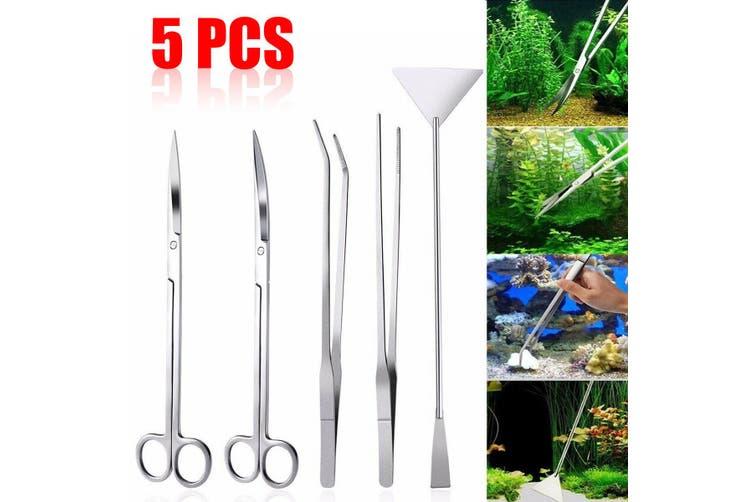 3/4/5 Pcs Aquarium Live Plant Aquascaping Tweezers Trimming Tool Trim(5pcs)
