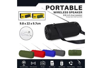 TWS bluetooth Speaker Portable Wireless Speaker Sound System 3D Stereo Music Player FM USB TF Card Radio Subwoofer(black)(Style D)