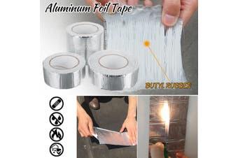 Aluminum Foil Adhesive Tape Stop Leak Heat Resistant Pipe Repair Crack Tape(5cm by 5m)