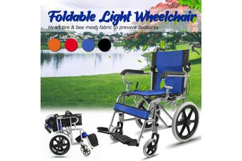 16'' Lightweight Solid Folding Wheelchair Transport Mobility Armrest Foldable(black)