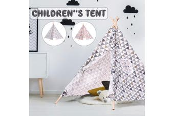 Kids Tent Children Indian Teepee Wigwam Play Indoor Outdoor Toys Games Hig 130cm(grey)(Type 2)