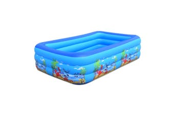 260cm Baby Swimming Pool Inflatable Kids Pool Bathing Tub Toy Outdoor Indoor Square Kids Children's Home Use Portable