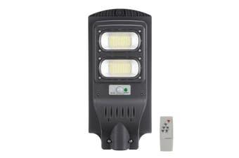 Solar Powered Street Light 234LED Waterproof IP65 PIR Motion Sensor Remote Control Light Control Wall Lamp Outdoor Gutter Patio Garden(grey)(234LED)