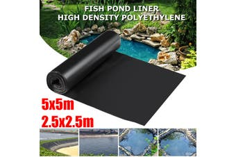 2.5x2.5/5x5m 0.12mm Thickness Fish Pond Liner Pool Garden PVC Membrane Thick Heavy Reinforced Landscaping(5x5m)