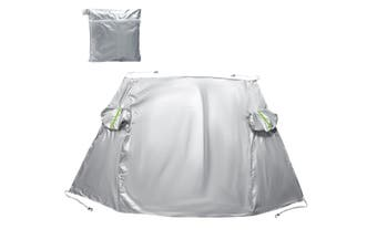 Car Windshield Snow Cover with Side Mirror Covers, Fits for Most Vehicles, Cars Trucks Van and SUVs, Mirror Snow Covers Protects Windshield and Wipers from Weatherproof, Rain, Sun, Frost(silver)(110.2 x 73.6 inch)