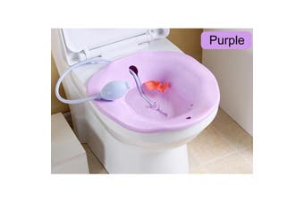 2.5L Portable Bidet Sitz Bath Tub Nursing Basin Kit Sprayer On Toilet(purple)