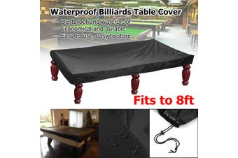 245*140*20CM Waterproof 8FT Black Economic Pool Snooker Billiards Table Cover(245x140x20cm)